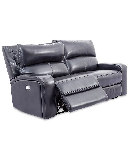 Furniture Brant 80 2 Pc Leather Power Reclining Sofa With 2 Power