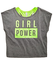 Ideology Layered-Look Graphic-Print T-Shirt, Big Girls, Created for Macy's