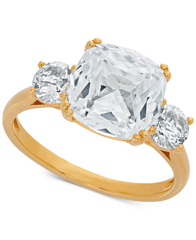 Arabella Swarovski Zirconia Statement Ring in 14k Gold-Plated Sterling Silver
