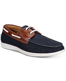 Unlisted by Kenneth Cole Men's Comment-Ary Perforated Boat Shoes