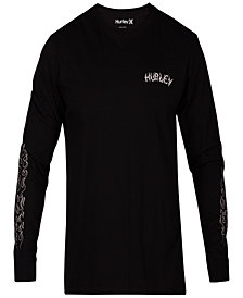 Hurley Men's Graphic Print Long-Sleeve T-Shirt