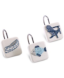 Lake Life 12-Pc. Hand-Painted Shower Hook Set