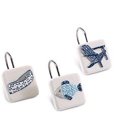 Avanti Lake Life 12-Pc. Hand-Painted Shower Hook Set
