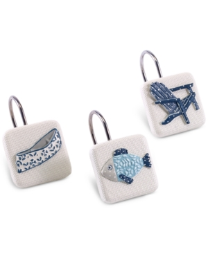 Avanti Lake Life 12Pc HandPainted Shower Hook Set Bedding