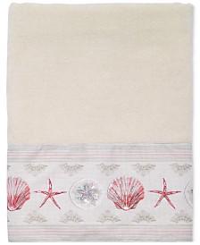 Avanti Coronado Cotton Graphic-Print Beaded Bath Towel