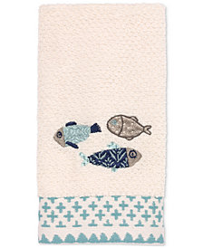 Avanti Lake Life Cotton Embroidered Fingertip Towel