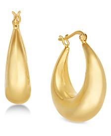 Essentials Medium Graduated Puff Hoop Earrings