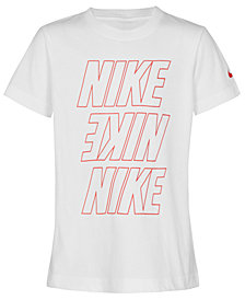 Nike Glow-In-The-Dark Logo-Print T-Shirt, Little Boys