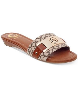 e48dd8d99 G by GUESS Jeena Slide Flat Sandals   Reviews - Sandals   Flip Flops -  Shoes - Macy s