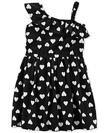 Carter's One-Shoulder Heart-Print Cotton Dress, Little & Big Girls