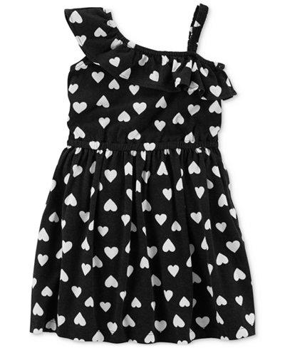 Carter's Heart-Print Ruffle Cotton Dress, Toddler Girls
