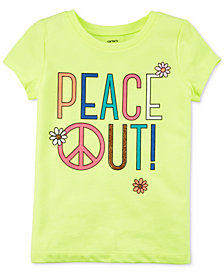 Carter's Peace Out T-Shirt, Little & Big Girls
