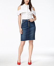 Hudson Jeans Remi High-Rise Pencil Skirt