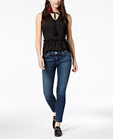 Hudson Jeans Tally Mid-Rise Skinny Crop Jeans