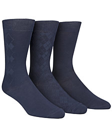 Calvin Klein Men's Socks, Rayon Dress Men's Socks 3 Pack