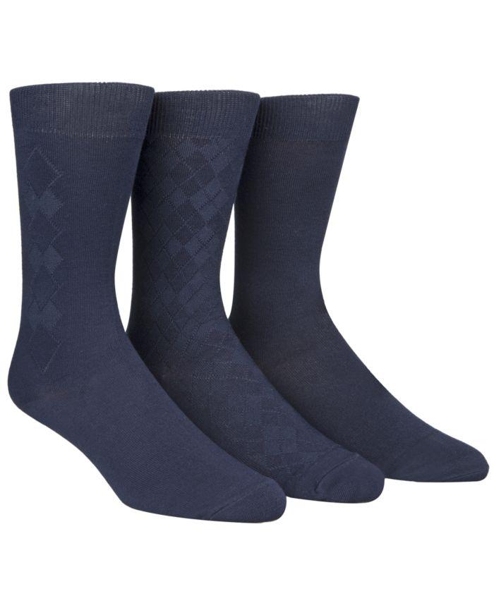 Calvin Klein Men's Socks, Rayon Dress Men's Socks 3 Pack & Reviews - Underwear & Socks - Men - Macy's
