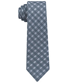 DKNY Men's Shadow Grid Silk Slim Tie