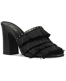 MICHAEL Michael Kors Gallagher Fringe Dress Sandals