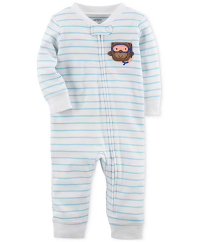 Carter's 1-Pc. Striped Cotton Coverall, Baby Boys