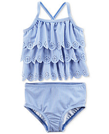 Carter's 2-Pc. Eyelet Ruffle Swimsuit, Baby Girls