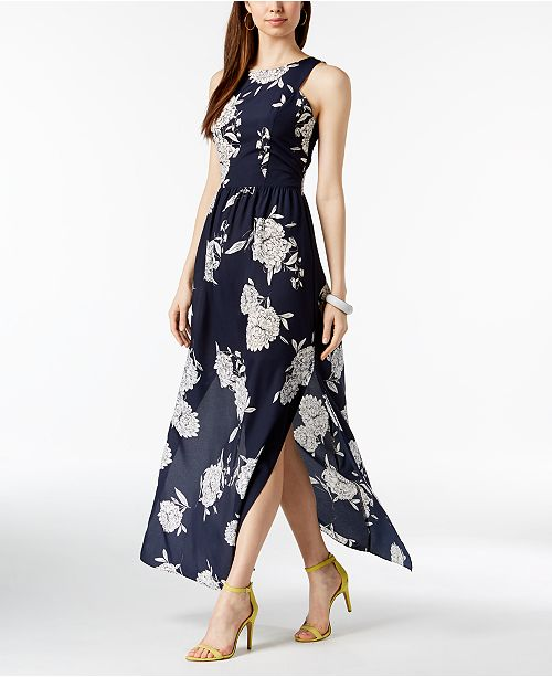 6a7f3d8e36 Vince Camuto Floral-Print Maxi Dress   Reviews - Dresses - Women ...