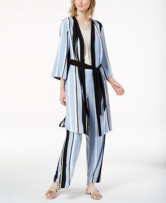 Striped Kimono Robe Jacket, Created For Macy's by Bar Iii