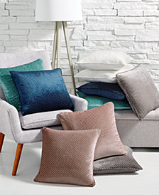"Lacourte Velvet Knit 20"" Square 2-Pack of Decorative Pillows, Created for Macy's"