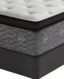 "MacyBed by Serta  Elite 14.5"" Firm Euro Pillow Top Mattress Set - Queen Split, Created for Macy's"