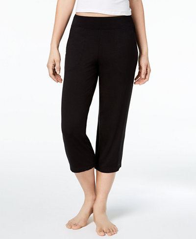 Alfani Solid Cropped Pajama Pants, Created for Macy's