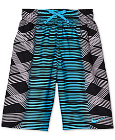 Nike Mixed-Print Swim Trunks, Big Boys