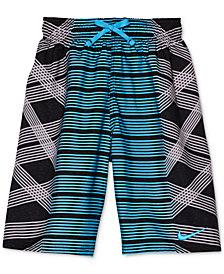 Nike Mixed-Print Swim Trunks, Big Boys