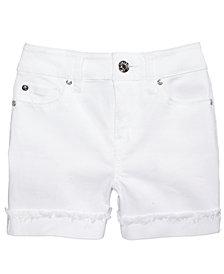 Celebrity Pink Frayed Flip Cuff Shorts, Big Girls