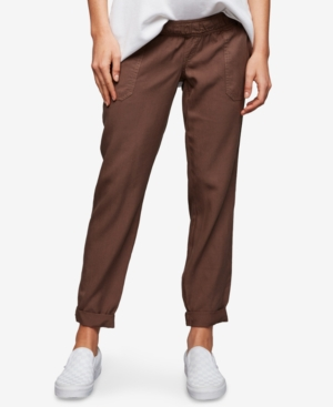 Image of A Pea In The Pod Maternity Canvas Jogger Pants
