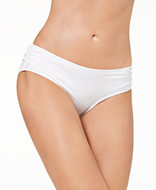 Carmen Marc Valvo Shirred Bikini Bottoms