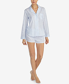 Lauren Ralph Lauren Belle Cotton Boxer Pajama Set