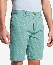 "Tommy Hilfiger Men's Victor Diamond Dot-Print 9"" Shorts, Created for Macy's"