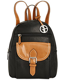 Giani Bernini Pebble Leather Backpack, Created for Macy's