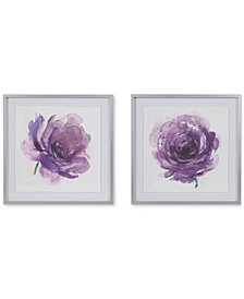 Madison Park Signature Purple Ladies Rose 2-Pc. Framed Graphic Print Set