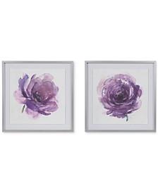 Madison Park Signature Purple Ladies Rose 2-Pc. Framed Graphic Print Set