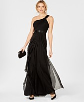 10a4d725fc1 Adrianna Papell One-Shoulder Tiered Chiffon Gown