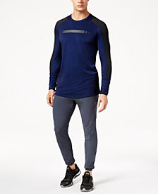 Under Armour Men's Perpetual Metallic-Logo Long-Sleeve T-Shirt