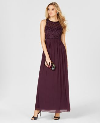 Plum Evening Gowns