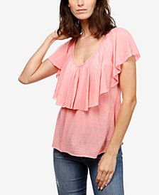 Lucky Brand Ruffled T-Shirt