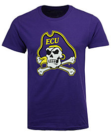 New Agenda Men's East Carolina Pirates Big Logo T-Shirt