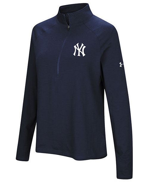 77e7d7d8 Under Armour Women's New York Yankees Passion Half-Zip Pullover ...