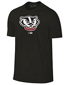 New Agenda Men's Wisconsin Badgers Big Logo T-Shirt