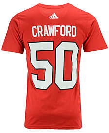 adidas Men's Corey Crawford Chicago Blackhawks Silver Player T-Shirt