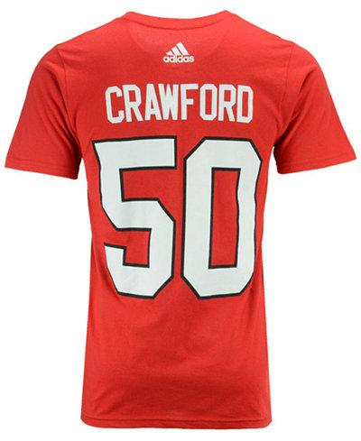 adidas Men's Corey Crawford Chicago Blackhawks Silver Player T-Shirt