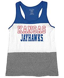 Blue 84 Women's Kansas Jayhawks Racerback Panel Tank Top