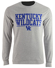 J America Men's Kentucky Wildcats Stacked Logo Long Sleeve T-Shirt